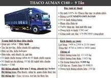 Xe tải Auman C160 9 tấn, xe tải 9 tấn thùng dài 7m4, xe tải Thaco 9 tấn C160, xe tải Thaco Auman C160 giá tốt nhất