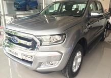 Bán Ford Ranger tại Hà Nội, phiên bản XLT 4x4 MT màu bạc đời 2017, hỗ trợ trả góp 80%
