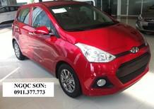 Bán ô tô Hyundai i10 mới 2018, màu đỏ, trả góp 80%xe,lãi thấp. Lhệ: Ngọc Sơn: 0911.377.773