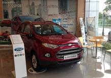 Bán Ford EcoSport Titanium 2017, màu đỏ, hỗ trợ trả góp ngân hàng, giao xe toàn quốc
