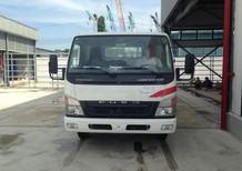 Cần bán xe tải Fuso Canter HD, màu trắng thùng lững gắn cẩu
