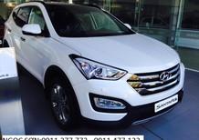 Cần bán Hyundai Santa Fe đời 2018, màu trắng, xe nhập