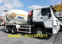 Bán xe trộn bê tông Howo 9 khối 10 khối 12 khối, nhập khẩu chính hãng Sinotruk