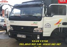 Xe tải VEAM VT750 7.5 tấn thùng mui bạt động cơ Hyundai, VEAM VT750 7T5 có máy lạnh