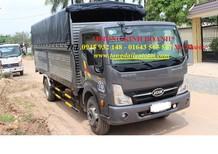 xe tải VEAM VT651 6.5 tấn động cơ NISSAN có máy lạnh, xe tải VEAM 6.5 tấn thùng mui bạt 2016
