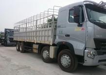Mua bán xe tải thùng 4 chân HOWO phủ bạt, 16 tấn, 17 tấn, 18 tấn thanh lý Thái Bình 0964674331