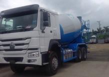 Bán xe trộn bê tông 10 khối Nam Định HOWO, hổ vồ nhập khẩu 500 triệu xe mới 0964674331
