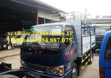 Bán xe tải Jac 2.4 tấn (2t4) thùng dài 3.7 mét - xe tải jac 2.4 tân đi được vào thành phố