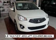 Cần bán xe Mitsubishi Attrage mới 2017, màu trắng, nhập khẩu - Lh Lê Nguyệt: 0911477123