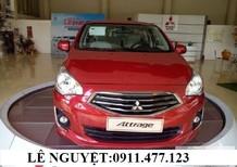 Cần bán Mitsubishi Attrage mới 2017, màu đỏ, nhập khẩu, giá tốt. Lh: Lê Nguyệt: 0911477123