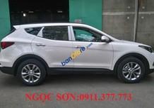 Bán ô tô Hyundai Santa Fe mới đời 2017, màu trắng - LH Ngọc Sơn: 0911.377.773