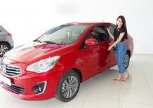 Bán xe Attrage 2017 màu đỏ Đà Nẵng, mua xe Attrage CVT màu đỏ giá tốt nhất Đà Nẵng