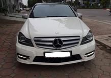 Bán Mercedes C300 AMG model 2012 màu trắng, chính chủ kí cam kết xe ko lỗi lầm. Lh 0988563932
