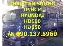TP. HCM Thaco Hyundai HD500 5 tấn, thùng kín, màu xanh, sản xuất mới