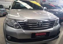 Bán xe Toyota Fortuner 2.7v 2014, màu bạc