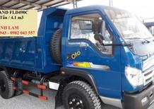 Xe Ben Thaco Forland FLD490C tải trọng 5 tấn thùng 4m3/ 4 khối, xe Ben Thaco Trường Hải 5 tấn, giá tốt tại Long An