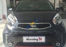 Bán xe Kia Morning SI MT năm 2018, màu xanh đen