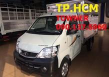 TP.HCM Thaco Towner 950A, màu trắng thùng kín tôn kẽm