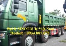 Bán xe ben Howo 371 4 chân thùng 6.4m, thùng đúc nhập khẩu
