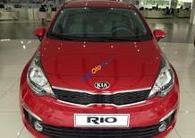 Bán ô tô Kia Rio 2017, màu đỏ, nhập khẩu chính hãng, giá ưu đãi, trả góp 80%. LH 0931523793