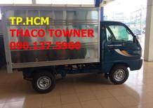 TP.HCM Thaco Towner 750A (950A) mới, màu xám, thùng kín inox 430
