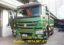 Bán xe ben Howo 3 chân 371 thùng vuông đúc 11 khối - xe ben Howo 3 chân 371HP nhập khẩu