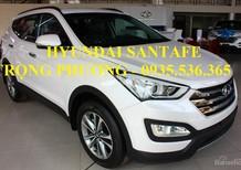 Hyundai Santa Fe 2017 đà nẵng, màu trắng,LH 24/7 : 0935.536.365 - TRỌNG PHƯƠNG