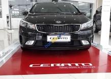 Bán xe Kia Cerato sản xuất năm 2017, màu đen, giá tốt