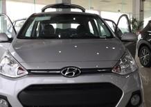 Bán xe Hyundai Grand i10 2017, màu bạc, xe nhập, giá 345tr