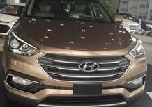 Bán ô tô Hyundai Santa Fe 2017, màu Cafe xe giao ngay