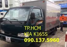 TP. HCM Kia K165 2t4 2017, màu trắng giá cạnh tranh thùng kín tôn đen