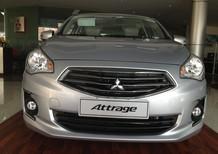 Bán ô tô Mitsubishi Attrage đời 2017, màu bạc, nhập khẩu, giá chỉ 447 triệu
