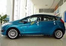 Bán xe Ford Fiesta 1.0AT Ecoboost đời 2017, màu xanh lam