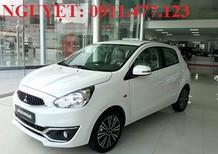 Bán ô tô Mitsubishi Mirage, màu trắng, nhập khẩu, tiết kiệm xăng, hỗ trợ vay 80-100% giá trị xe