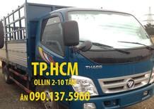 TP. HCM Thaco Ollin 500B 2017, nhập khẩu nguyên chiếc, 375 triệu mui bạt tôn đen