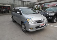 Cần bán gấp Toyota Innova đời 2011, màu bạc số sàn, 580 triệu