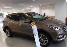 Bán xe Hyundai Santa Fe đời 2016, màu nâu