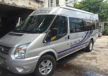 Bán Ford Transit 2.4 LX 16 chỗ, màu bạc, số sàn, Sx 2015