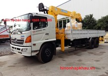 Bán xe tải cẩu Hino FL8JTSA gác cẩu Soosan 7 tấn 6 khúc SCS746L, chính hãng tại Gia Lâm Hà Nội