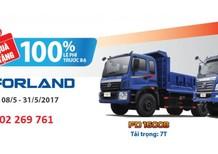 [Hỗ trợ 75% - lãi suất ưu đãi] BRVT bán xe tải ben 9 tấn FD9500BM mở bửng, hỗ trợ mua xe trả góp