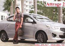 Cần bán Mitsubishi Attrage đời 2017, màu bạc, nhập khẩu chính hãng