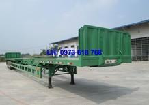 Sơmi rơ móoc Doosung tải chở thép ống thép thanh 3 trục, lốp Casumina 11.00-20