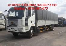 Bán xe tải Faw 8 tấn (8T) thùng dài 10 mét, nhập khẩu thùng siêu dài