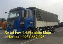 Bán xe tải faw 9.6 tấn - 9t6 - 9.6 tân nhập khẩu thùng dài 7.5 mét