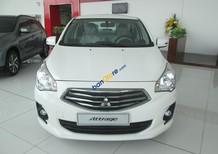 Cần bán Mitsubishi Attrage MT CVT model 2017, màu trắng, xe nhập, giá chỉ 402 triệu
