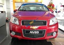 Xe Aveo số sàn 5 chỗ màu đỏ, hỗ trợ vay ngân hàng đến 80%, LH: 0945.307.489 - Huyền Chevrolet