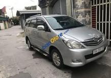 Cần bán Toyota Innova G đời 2009, màu bạc xe gia đình, giá 439tr