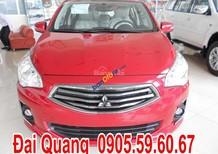 Bán Mitsubishi Attrage đời 2017, màu đỏ, số tự động, giá ưu đãi tại thị trường Đà Nẵng, LH Quang 0905596067