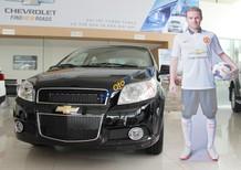 Xe Chevrolet Aveo đen số sàn, hỗ trợ vay NH tối đa, chuẩn bị 80 triệu ra xe, bảo hành 3 năm, LH Nhung 0907148849