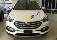 Cần bán Hyundai Santa Fe 2.2 AT đời 2017, màu trắng